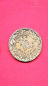 MEXICO MEXICAN KM432 1936 VF VERY FINE NICE OLD VINTAGE USED 10 CENTAVOS COIN