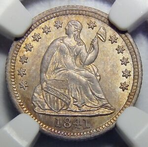 Click now to see the BUY IT NOW Price! 1841 NGC MS66 SEATED LIBERTY HALF DIME