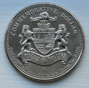 1981 TOWN OF NIAGARA ON THE LAKE BICENTENNIAL COMMEMORATIVE DOLLAR 1781 1981