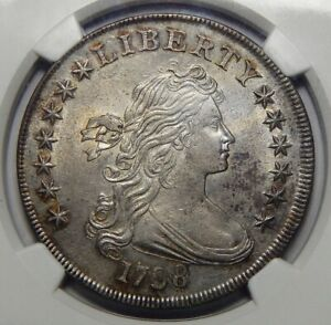Click now to see the BUY IT NOW Price! 1798 NGC MS61 LARGE EAGLE DRAPED BUST DOLLAR