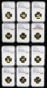 Click now to see the BUY IT NOW Price! 1981 1992 LUNAR SERIES 8G GOLD COIN NGC PF69 ULTRA CAMEO COMPLETE SET 12 COINS