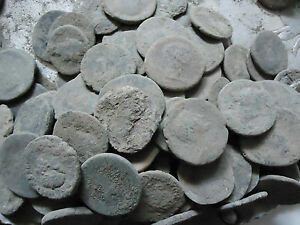 LARGE UNCLEANED ROMAN COINS 15 TO 36MM MEDIUM GRADE EVERY BID IS PER COIN