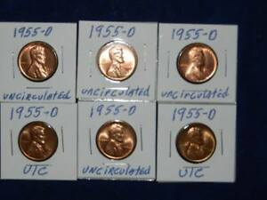 1955 D VINTAGE KEEPSAKE LINCOLN WHEAT UNCIRCULATED COPPER PENNY IN A PORTECTOR