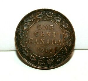 1915 CANADA ONE CENT LARGE CENT