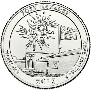 QUARTER COIN USA 25 CENTS FORT MCHENRY NATIONAL MONUMENT D 2013