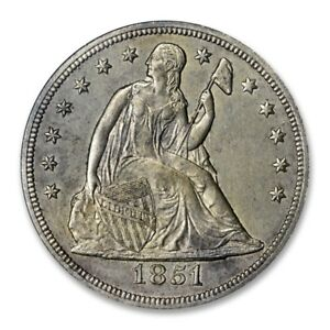 Click now to see the BUY IT NOW Price! 1851 $1 LIBERTY SEATED DOLLAR PCGS MS 61 UNCIRCULATED KEY DATE  COIN