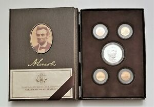 2009 LINCOLN COIN AND CHRONICLES SET  5 COIN PROOF SET