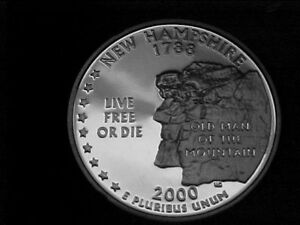 Click now to see the BUY IT NOW Price! 253   2000 S PROOF NEW HAMPSHIRE STATE QUARTERS FROM PROOF SETS