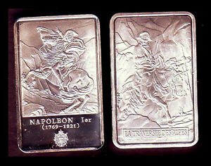 SILVER PLATED BAR : NAPOLEON AND THE CROSSING OF ALPS