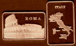 BRONZE PLATED BAR : ROME : COLISEUM GLADIATORS ITALY