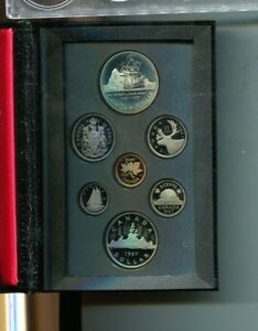 CANADA 1987 7 COIN  PROOF SET ORIGINAL 1870L