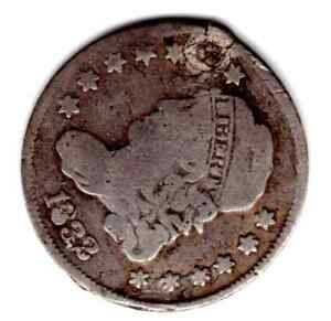 1832 CAPPED BUST SILVER HALF DIME     HOLED