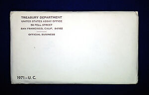 1971 U.S. MINT SET. ISSUED BY US MINT. ENVELOPE OPENED.