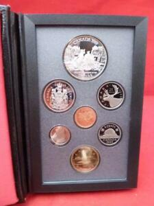 1989 ROYAL CANADIAN MINT DOUBLE DOLLAR 7 COIN PROOF SET WITH ORIGINAL PACKAGING