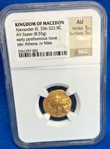 Click now to see the BUY IT NOW Price! ALEXANDER III THE GREAT 323BC GOLD STATER NGC AU 5/5 ANCIENT GREEK COIN