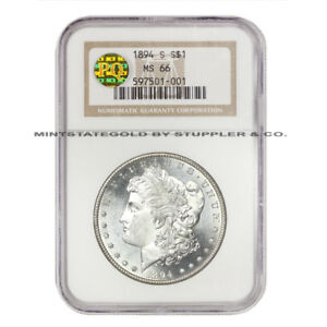 Click now to see the BUY IT NOW Price! 1894 S $1 MORGAN NGC MS66 PQ APPROVED SAN FRANCISCO SILVER DOLLAR  GEM COIN