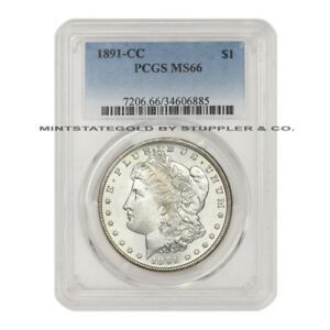 Click now to see the BUY IT NOW Price!  1891 CC $1 MORGAN SILVER DOLLAR PCGS MS66 CARSON CITY GEM SPITTING EAGLE