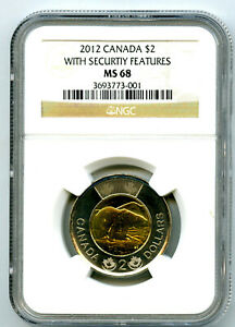 Click now to see the BUY IT NOW Price! 2012 $2 CANADA TOONIE NEW SECURITY FEATURES NGC MS68 NEW MAPLE LEAF PRIVY TOP12