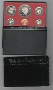 1977 US MINT 6 COINS PROOF SET IN BLACK BOX