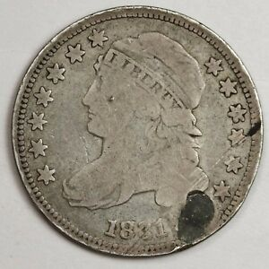 1831 BUST DIME.  FINE DETAIL.  HOLED.  115784