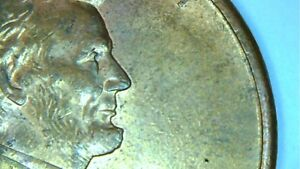 1994 D LINCOLN CENT MINT ERROR PENNY. DOUBLE EXPOSURE ON FOREHEAD AND NOSE.NICE