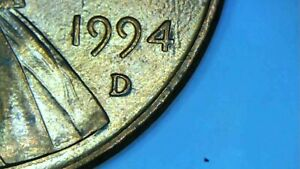 1994 D LINCOLN CENT MINT ERROR PENNY. DOUBLE DATE EXPOSURE MINT ERROR NICE COIN