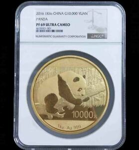 Click now to see the BUY IT NOW Price! 2016 CHINA PANDA 1KG GOLD COIN G10000Y NGC PF69 ULTRA CAMEO