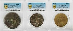 Click now to see the BUY IT NOW Price! PCGS MS63/65/64 1930 ICELAND 10 5 2KROWN 3PCS LOT TOP GRADE