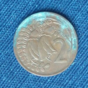 1973 NEW ZEALAND 2 CENTS   ELIZABETH II 2ND PORTRAIT KM 32