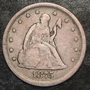 1875 S TWENTY CENT PIECE   HIGH QUALITY SCANS F490