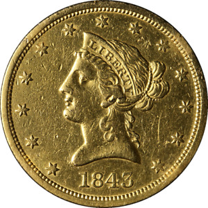 Click now to see the BUY IT NOW Price! 1843 O LIBERTY GOLD $10 NO MOTTO XF/AU DETAILS DECENT EYE APPEAL NICE STRIKE