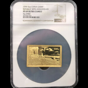 Click now to see the BUY IT NOW Price! 1999 5OZ REPUBLIC 50TH ANNIVERSARY GOLD COIN G500Y NGC PF69 ULTRA CAMEO WITH COA