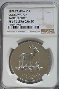 Click now to see the BUY IT NOW Price! NGC PF69UC 1979 ZAMBIA WILDLIFE 5 10K SILVER 2PCS PROOF SET