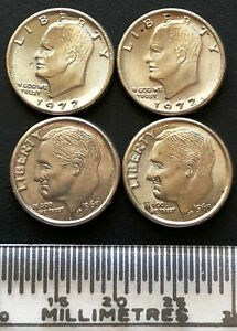 LOT OF 4X NOVELTY MINIATURE USA DOLLARS AND DIMES