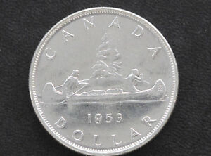 Click now to see the BUY IT NOW Price! 1953 BU CANADA SILVER DOLLAR SF ELIZABETH II CANADIAN COIN D7128