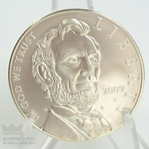 2009 P ABRAHAM LINCOLN COMMEMORATIVE BU SILVER DOLLAR  COIN ONLY