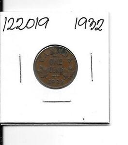 1932 CANADIAN SMALL CENT    122019
