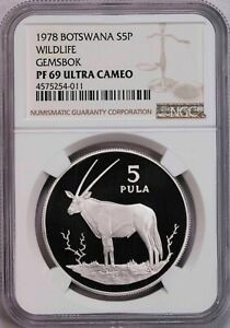 Click now to see the BUY IT NOW Price! NGC PF69UC 1978 BOTSWANA WILDLIFE 5 10PULA SILVER 2PCS PROOF SET