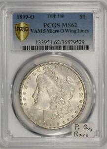 Click now to see the BUY IT NOW Price! 1899 O MICRO O MORGAN DOLLAR PCGS MS 62; VAM 5 TOP 100; PREMIUM QUALITY;