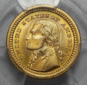 Click now to see the BUY IT NOW Price! 1903 PCGS MS67 JEFFERSON LOUISIANA PURCHASE GOLD DOLLAR COMMEMORATIVE