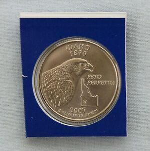 2007 P IDAHO STATE QUARTER UNCIRCULATED IN MINT HOLDER  9508