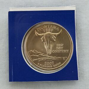 2007 P MONTANA STATE QUARTER UNCIRCULATED IN MINT HOLDER  9508