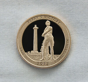 2013 S PERRY'S VICTORY CLAD PROOF ATB QUARTER CAMEO