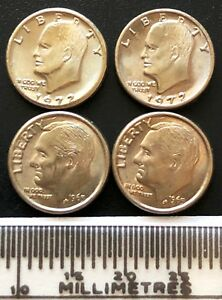 LOT OF 4X NOVELTY MINIATURE USA IKE DOLLARS AND ROOSEVELT DIMES