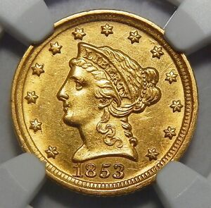 Click now to see the BUY IT NOW Price! 1853 D NGC MS62 $2.50 LIBERTY HEAD GOLD