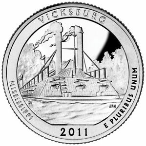 2011 P VICKSBURG NATIONAL MILITARY PARK QUARTER   BRILLIANT UNCIRCULATED   ATB
