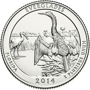 QUARTER COIN USA 25 CENTS EVERGLADES NATIONAL PARK QUARTER 2014