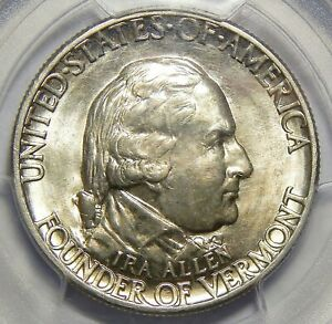1927 PCGS MS64 VERMONT HALF DOLLAR SILVER COMMEMORATIVE
