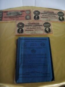 LINCOLN CENT COLLECTION  2 STARTING 1951 3 REPRODUCED CONFEDERATE BILLS