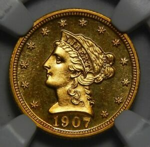 Click now to see the BUY IT NOW Price! 1907 NGC PF68 $2.50 LIBERTY HEAD GOLD